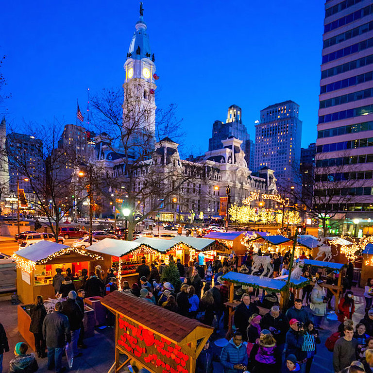 Christmas In Philadelphia 2020 German Christmas Village at Love Park and City Hall in
